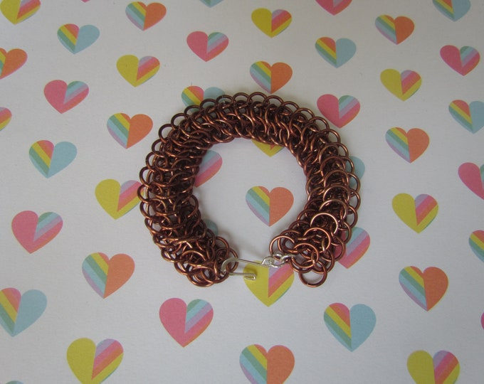 Bronze Dragonback Chainmail Bracelet