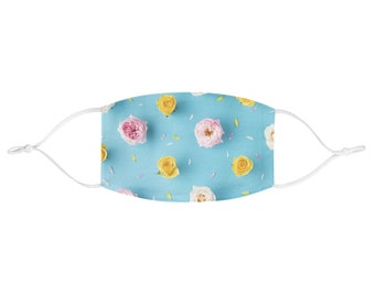 Fabric Face Mask - Blue Roses