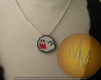 CLEARANCE - Boo Shy Boo Super Mario Necklace