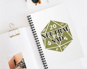 NEUTRAL SAD Spiral Bound Notebook