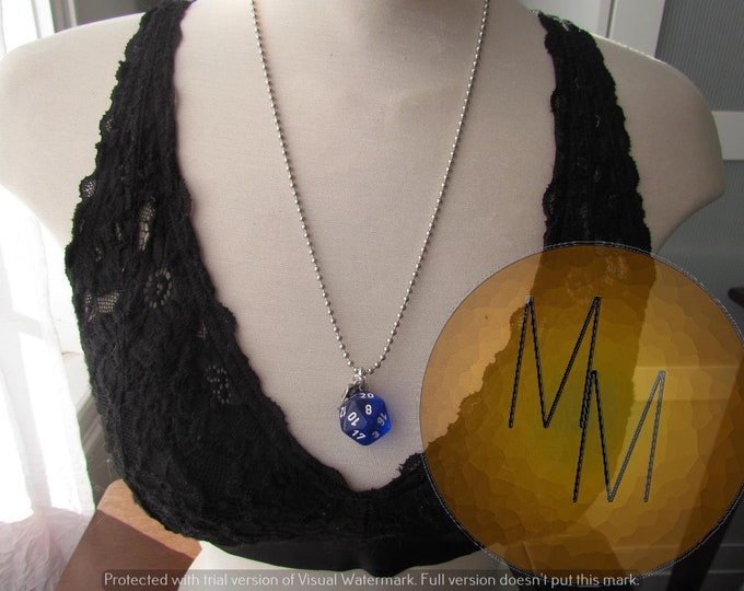 d20 NECKLACE Class Talisman Dungeons and Dragons Dice