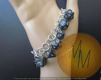 MINI DICE BRACELET Black Pearl/Shimmer