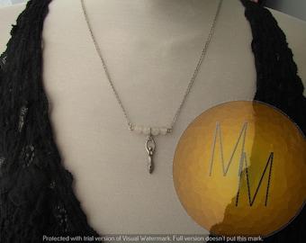 CLEARANCE - Divine Feminine Goddess Necklace (Quartz)