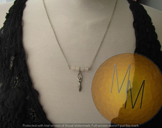 Divine Feminine Goddess Necklace (Quartz)