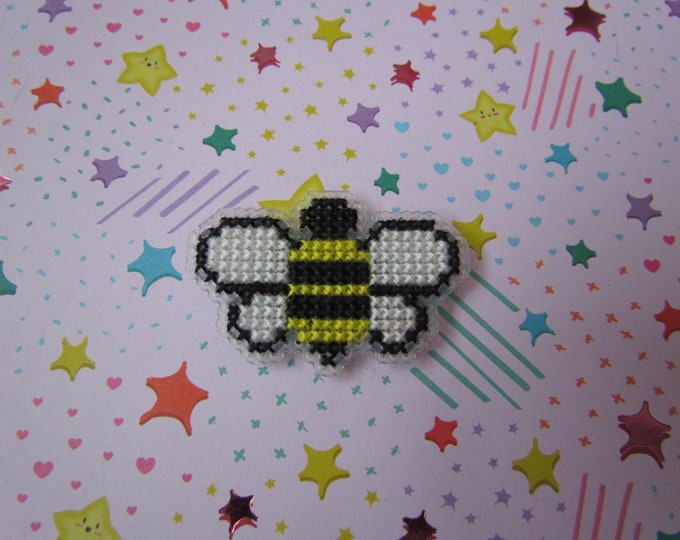 Bumblebee Cross Stitch Pin