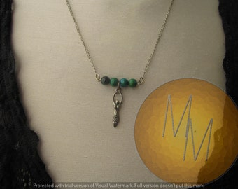 Divine Feminine Goddess Necklace (Chrysocolla)