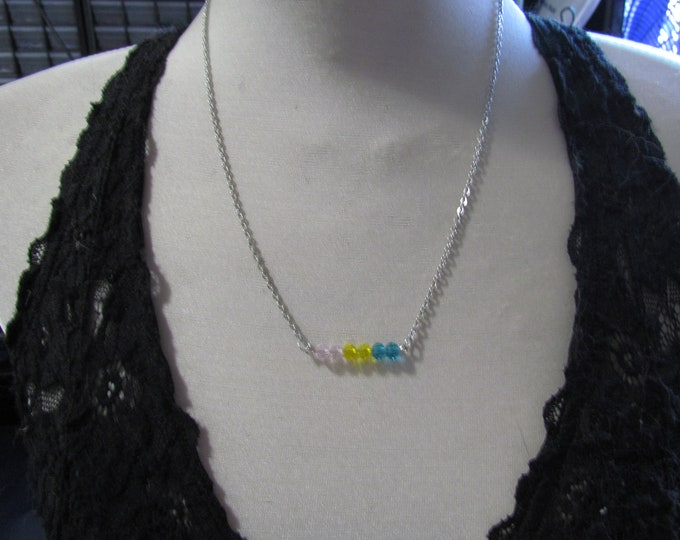 Beaded Pride Necklace PANSEXUAL