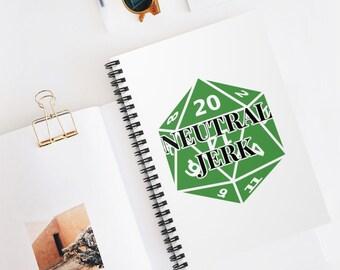 NEUTRAL JERK Spiral Bound Notebook