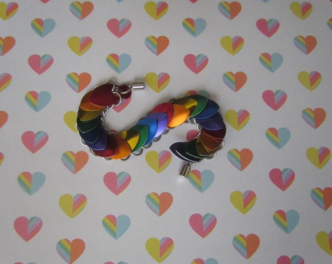 RAINBOW FLAG Scalemail Bracelet Gay Pride Colours