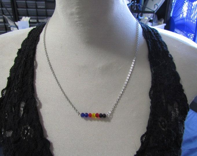 Beaded Pride Necklace POLYAMOROUS