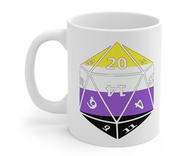 NONBINARY d20 Mug