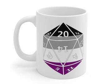 ASEXUAL d20 Mug