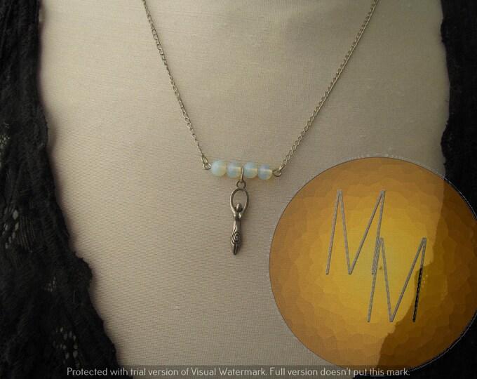 CLEARANCE - Divine Feminine Goddess Necklace (Opalite)