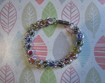 RAINBOW Captive Bead Bracelet