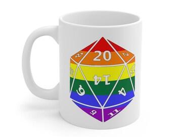 GAY d20 Mug