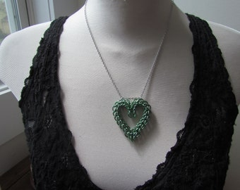 MINT GREEN Persian Heart Necklace