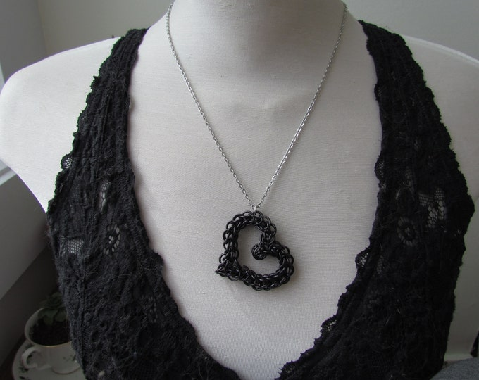BLACK Persian Heart Necklace