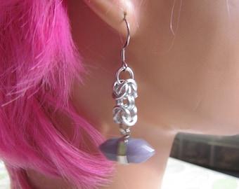 Mini Gemstone Byzantine Drop Earrings