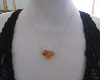 CLEARANCE - STERLING SILVER Carnelian Necklace