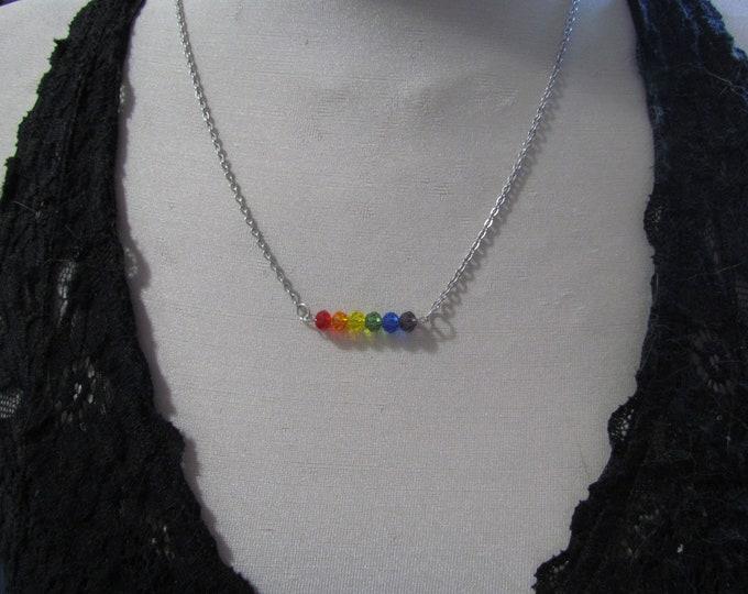 Beaded Pride Necklace RAINBOW