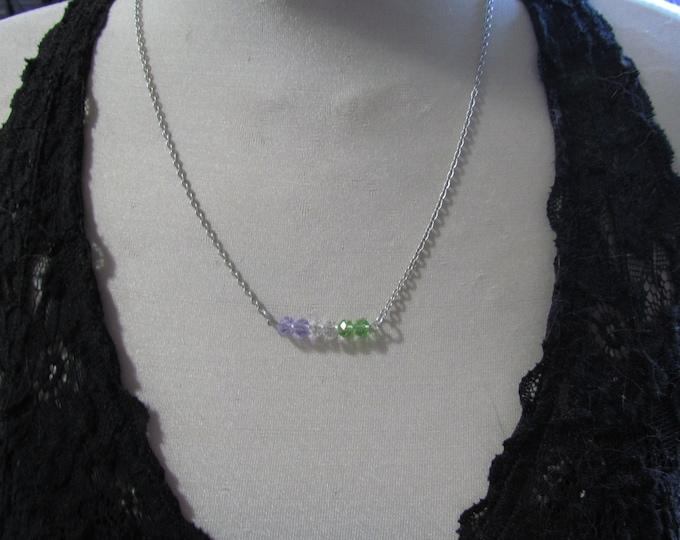 Beaded Pride Necklace GENDERQUEER