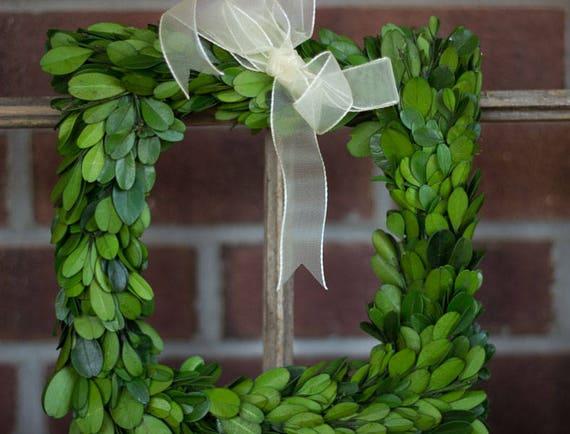 Sale Boxwood Wreath Natural Boxwood Square Boxwood Preserved Boxwood Dried Flowers Boxwood Etsy Boxwood Diy Boxwood For Wedding