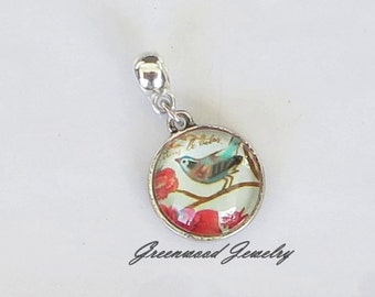 061817463 Singing Bird - European Dangle, Charm Bead For All Large Hole Charm Bracelet  And Necklace Chain. Dangle 23mm