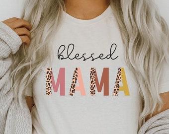 trending mom shirts cheetah print women\u2019s shirt bleached mama shirt new mom gift Mama shirt popular women\u2019s shirt