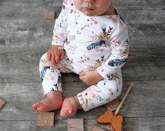 Baby girl clothes, baby girl, baby girl romper, organic romper, organic baby clothes, newborn baby romper, infant romper, baby clothes