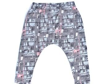 Girls harem pants, baby girl harem pants, boys harem pants, harem pants, baby pants, toddler pants, girls drop crotch, hammer pants