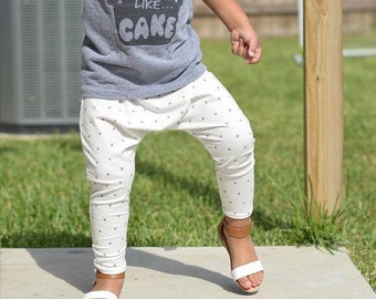 Boys harem pants, girls harem pants, gray x's harems, harem pants, white harems, kids leggings, baby leggings, toddler pants
