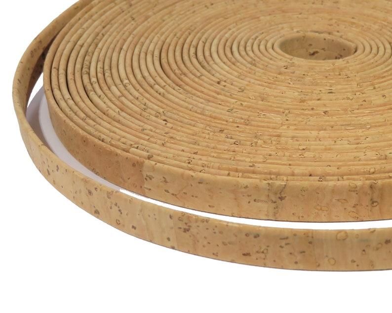 10mm flat cork cord Portuguese cork strip C10MM-2 10mm Portuguese Cork cord Cork cord vegan flat cork
