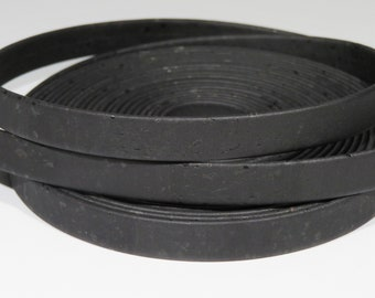 "1 meter of Portuguese  black cork, 10 mm flat cork  (1piece 39,4"" or 1m) (C10MM-14)"