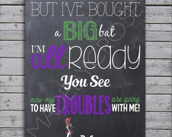 Chalkboard Print Dr Seuss Today I Shall Behave As If This Etsy