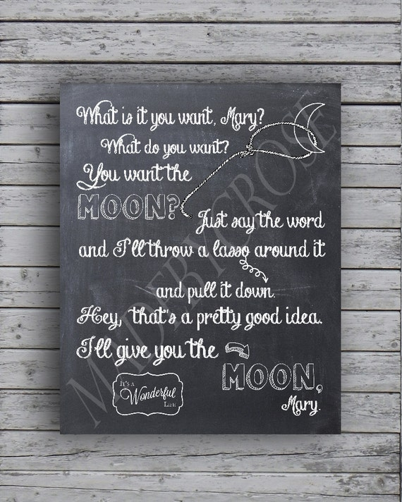 chalkboard print it s a wonderful life you want etsy
