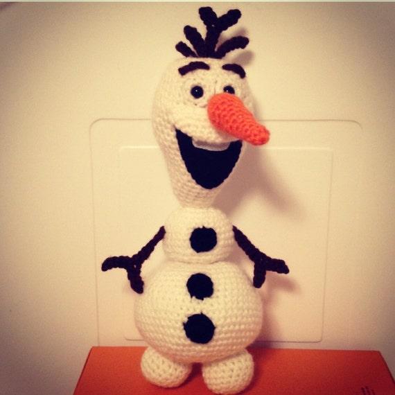 Ganchillo a Olaf el Amigurumi muñeco de nieve patrón PDF | Etsy