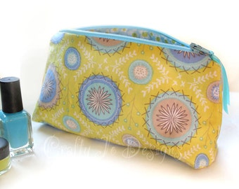 Small Zipper Bag, Make up Pouch, Dashwood Studio Fabric Cosmetic Case, Toiletry Storage, Make Up Bag, Mothers Day Gift