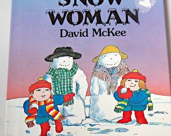 SALE Snow Woman Vintage Hardcover Children's Book 1988