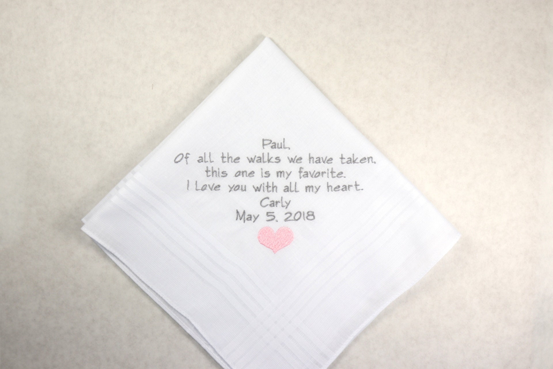 Step Father of the Bride Gift from step Daughter Wedding Gift Personalized  Hankerchief Embroidered Handkerchief gifts for Step Dad