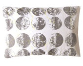 ONE Glow In The Dark Constellation Moon Phases Screen Printed Pillowcase Gray/Yellow
