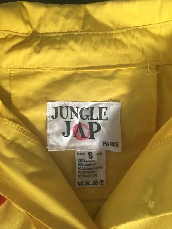 Jungle Jap (Kenzo 70s brand)  Yellow Cotten doubl… - image 3