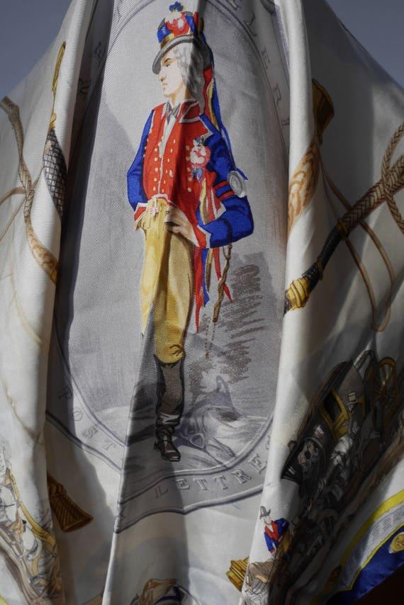 Rare HERMÈS scarf Sureté Célérité Poste aux   Etsy 1984e8e3932