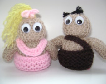 Knitted Cave Couple Toys