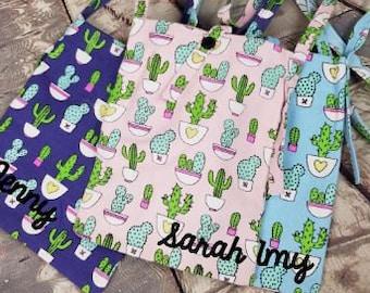 cactus print, cactus bag, cactus accessories, western bag, cacti print, western print, succulent bag, succulent, plant lady, cacti bag