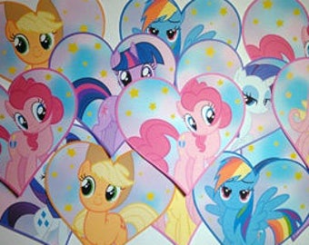 My Little Pony Inspired Sticker Pack of 6