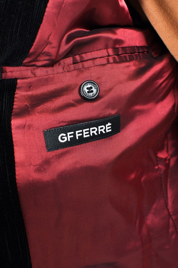 Vintage GF FERRE corduroy suit in black - image 4