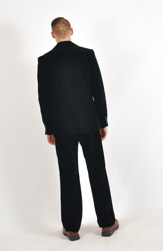 Vintage GF FERRE corduroy suit in black - image 2