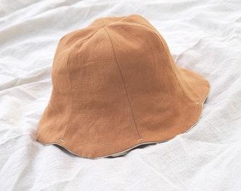 Summer Tulip Hat   Linen Hat   Bucket Hat Pattern   Baby & Kids   Baby Hat   1.5-3 / 3-6Y