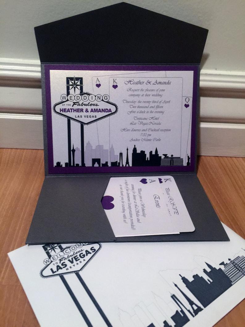 Image 0: Las Vegas Theme Wedding Invitations At Websimilar.org