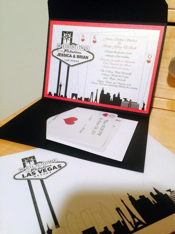 Elegant Las Vegas Themed Wedding Invitation Etsy